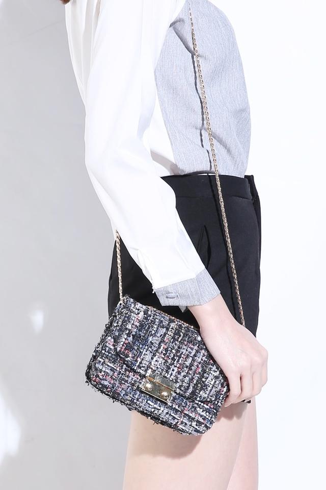 (BACKORDER) Tweed Bucket Bag (A)