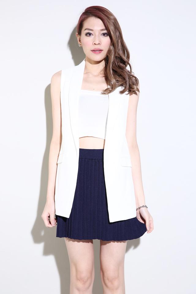 BACKORDER- Carter Vest in White