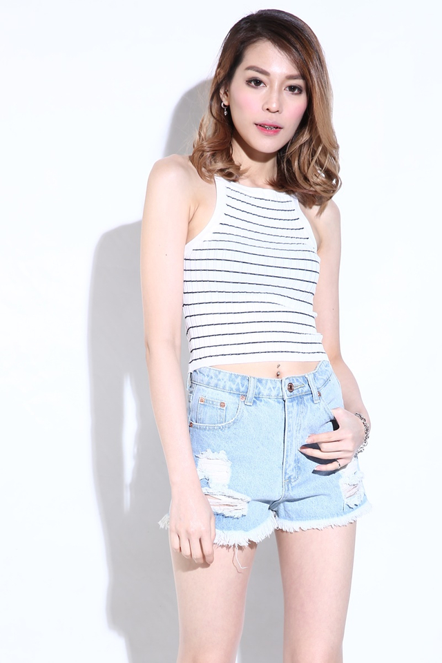 IN STOCK - JAXTON KNIT TOP IN WHITE