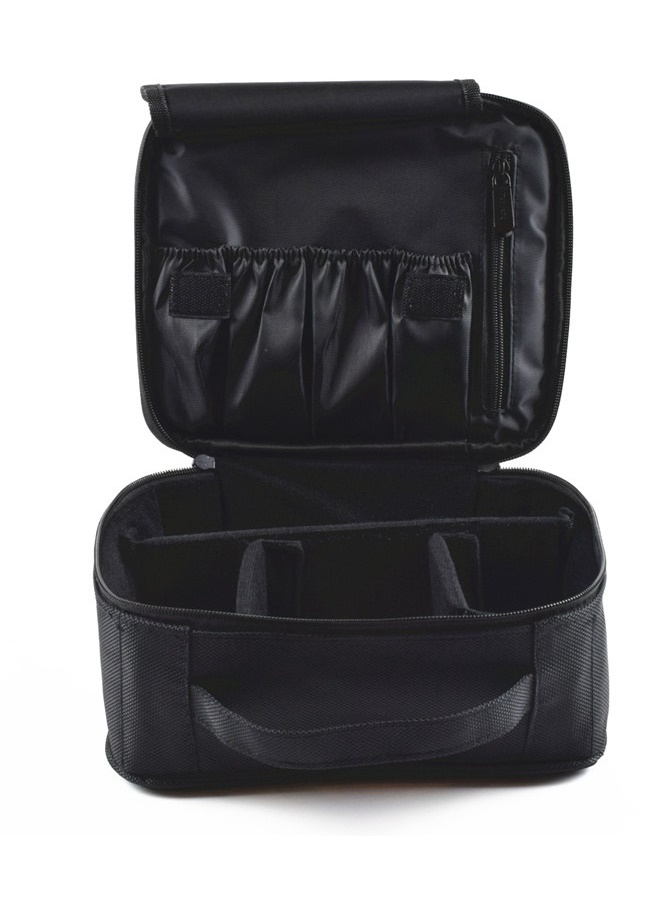 (BACKORDER) Make Up Pouch in Black (Brush Pocket Type)