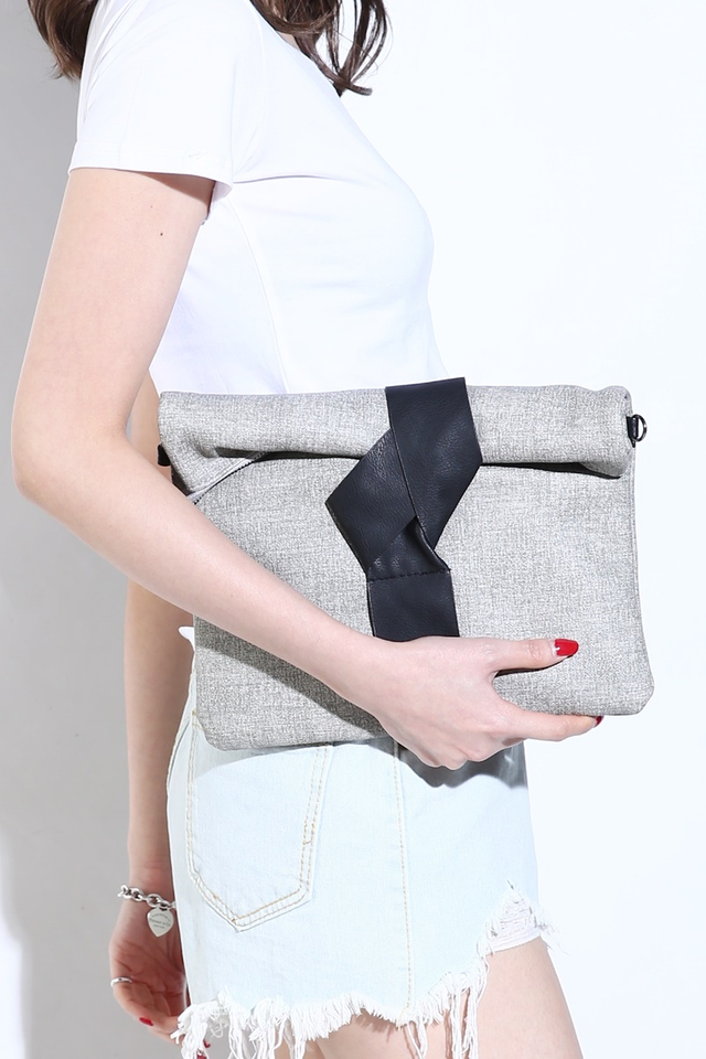 BACKORDER - JAKE FLODED BAG IN GREY