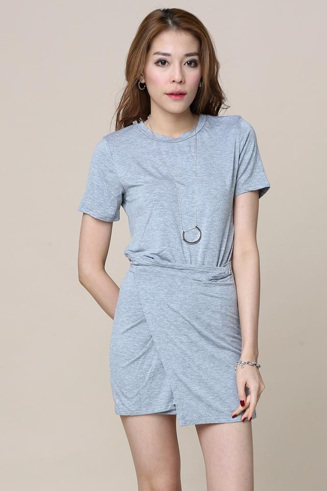 (BACKORDER) Fiorella Dress in Grey