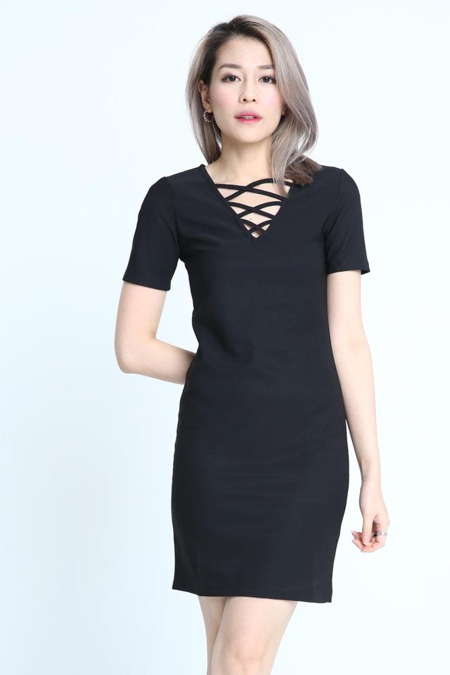 BACKORDER - CREZA DRESS IN BLACK