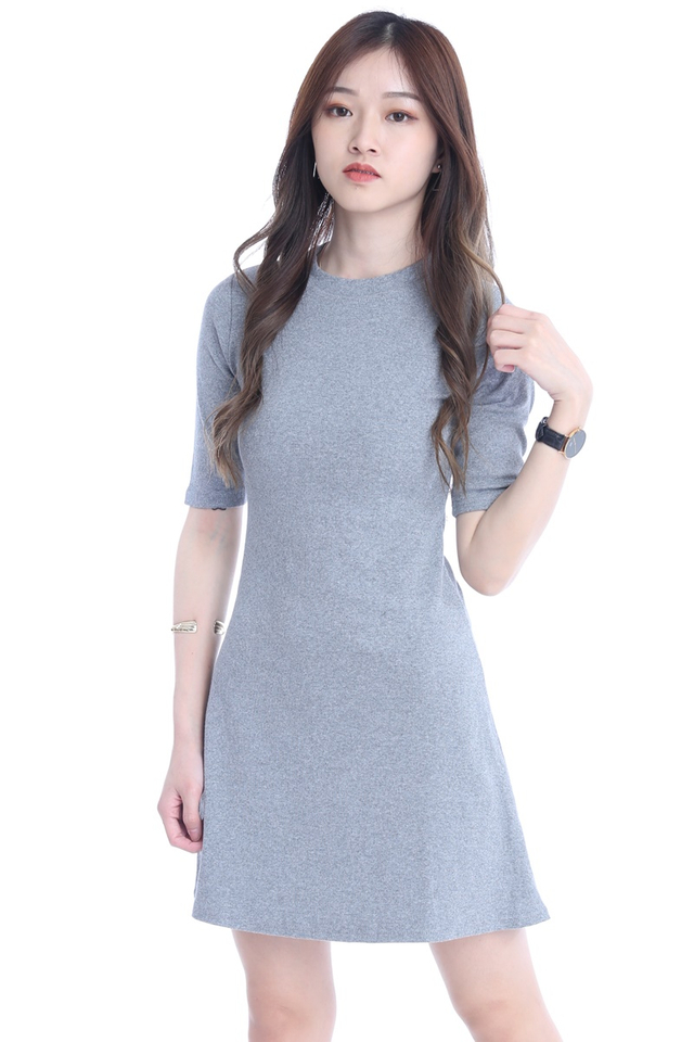 BACKORDER  - JOGER DRESS IN GREY