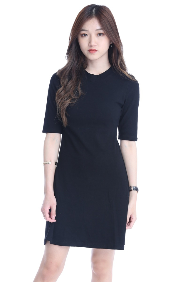 BACKORDER - JOGER DRESS IN BLACK