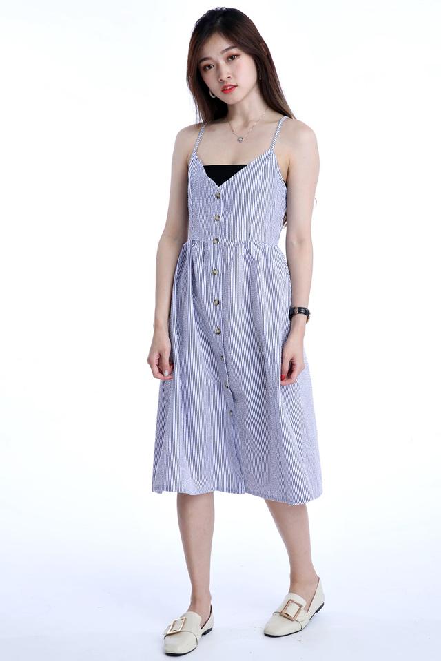 BACKORDER - DESIRE STRIPES DRESS IN BLUE WHITE