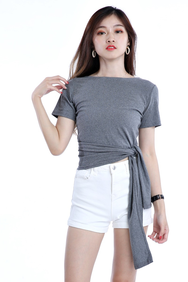 BACKORDER - FARIS 3  WAY TOP IN GREY