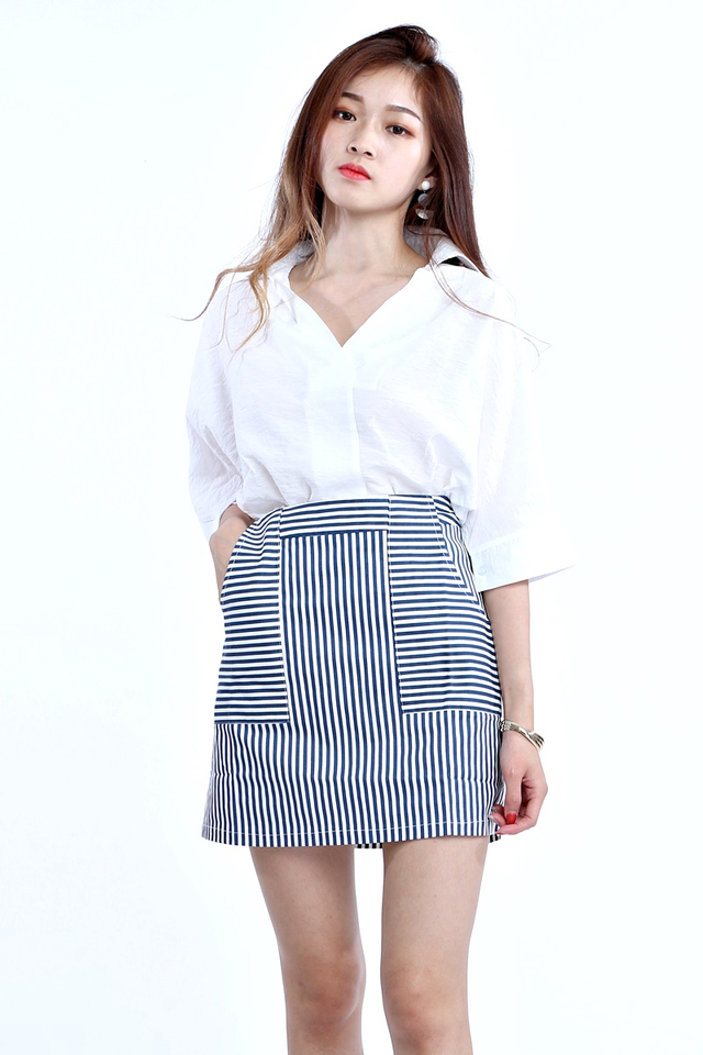BACKORDER - PONY BLOUSE IN WHITE