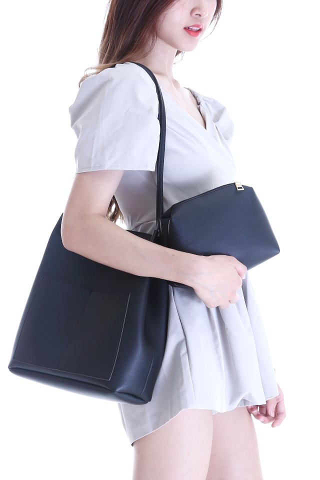 BACKORDER - CAROL SHOULDER BAG IN BLACK