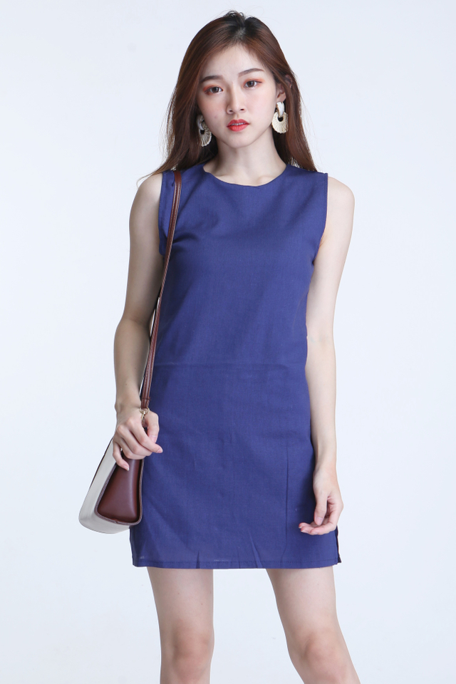 PREORDER - KYLETTE DRESS WITH INNER PANTS IN BLUE