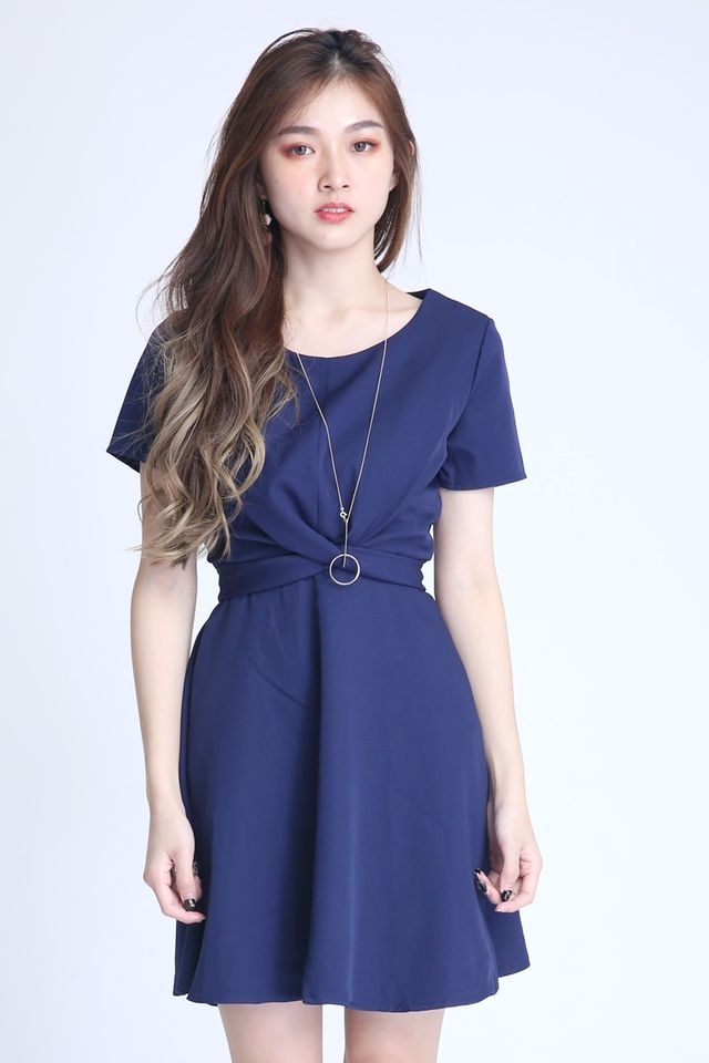 PREORDER - PAULINE CROSS TIE DRESS IN BLUE