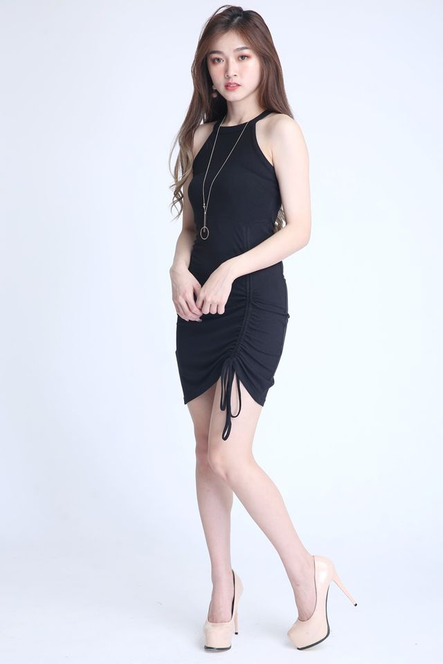 PREORDER- HANK DRESS IN BLACK