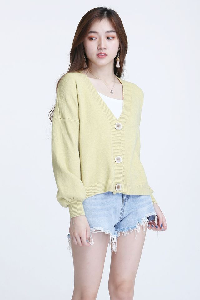 BACKORDER - KATY CARDIGAN IN YELLOW