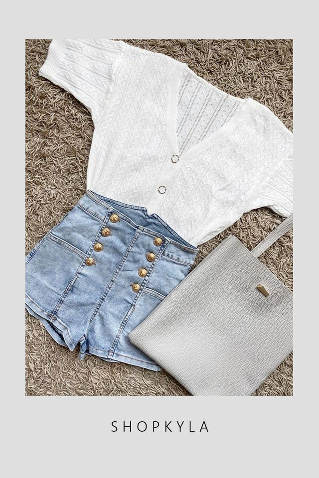 PREORDER - DIANA BUTTON KNIT TOP IN WHITE