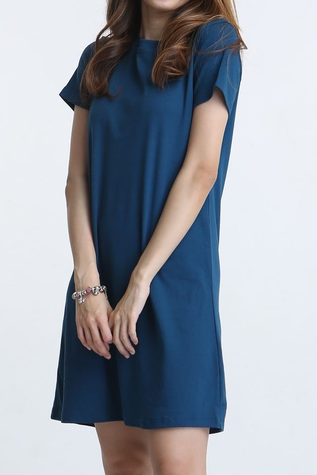 PREORDER- WALID SHIFT DRESS IN BLUE TEAL