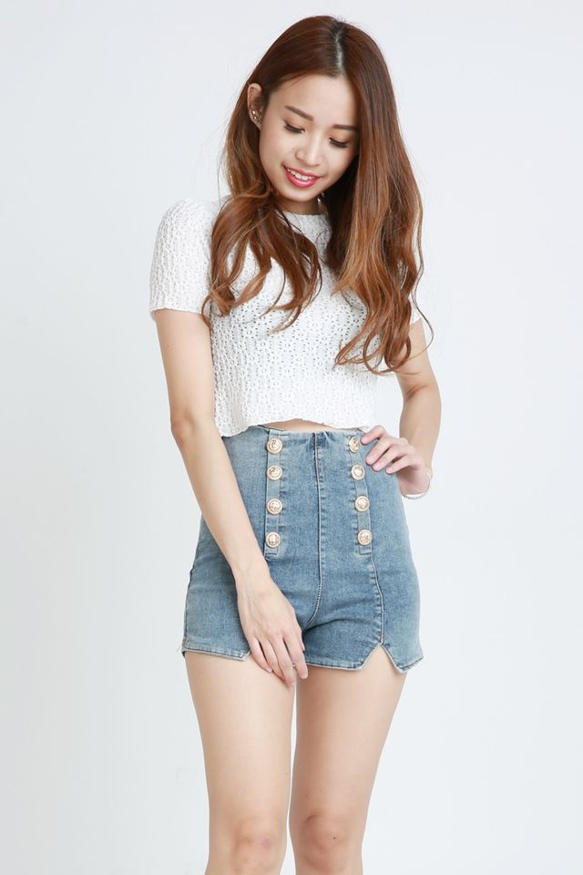PREORDER  - THANYER LACE TOP IN WHITE