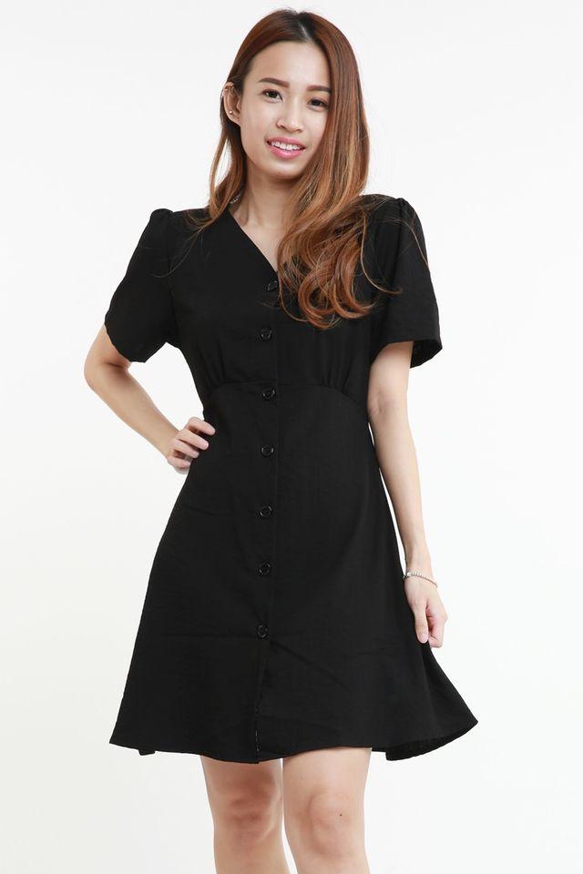 IN STOCK - WERONA DRESS IN BLACK
