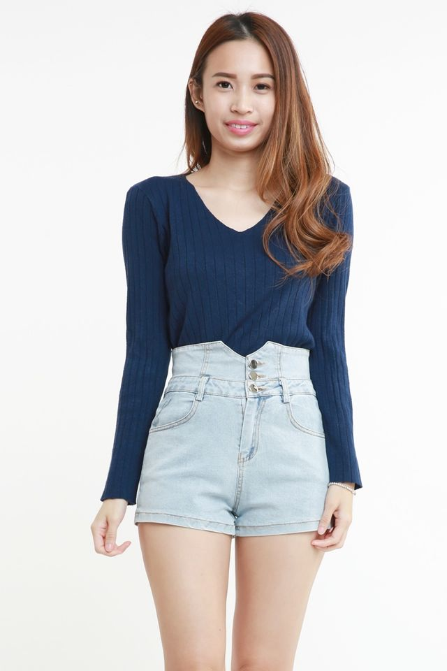 PREORDER -PADDY LONG SLEEVE TOP IN NAVY