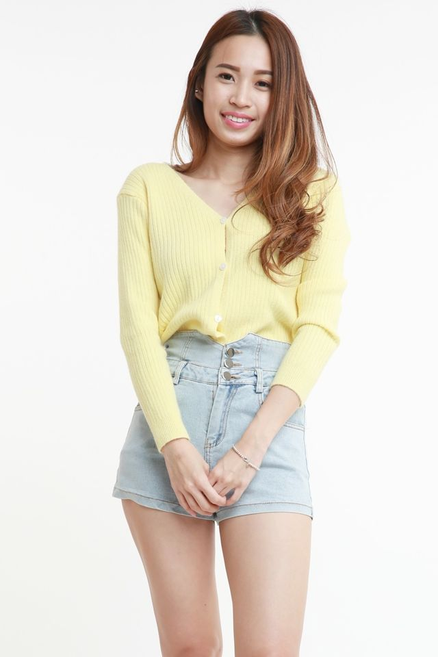 PREORDER -  FINOLA CARDIGAN IN YELLOW