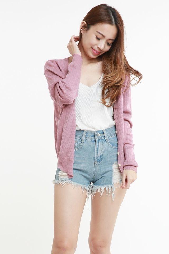 SG IN STOCK -  MORIAH CARDIGAN IN PINK
