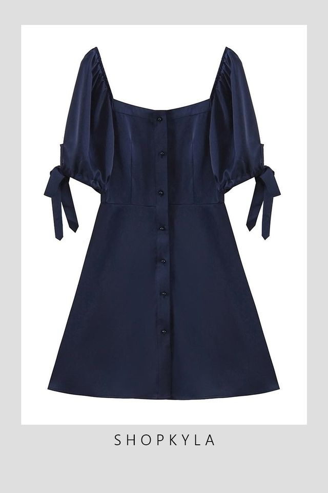 IN STOCK - CAIDEN DRESS IN NAVY