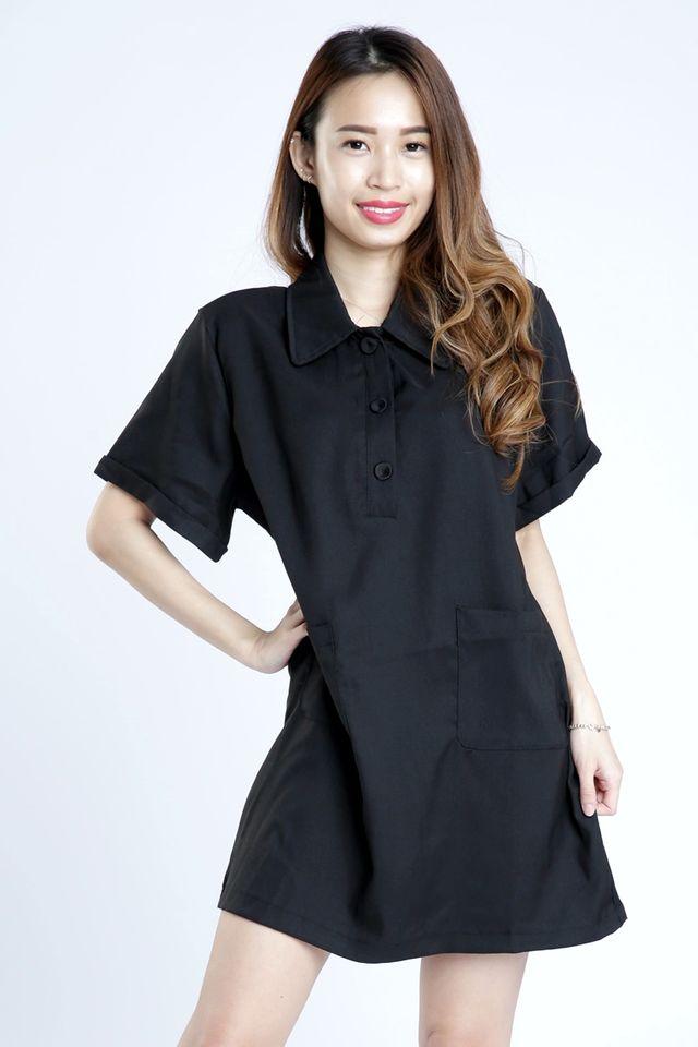 SG IN STOCK - JANICE SHIFT DRESS IN BLACK