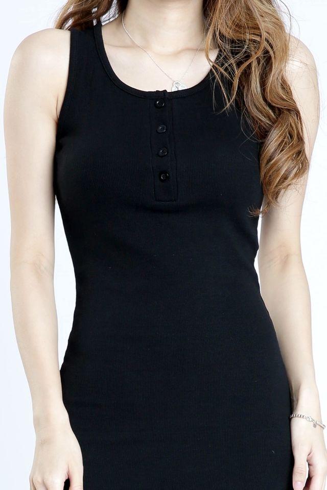 PREORDER - OWEN BODYCON DRESS IN BLACK