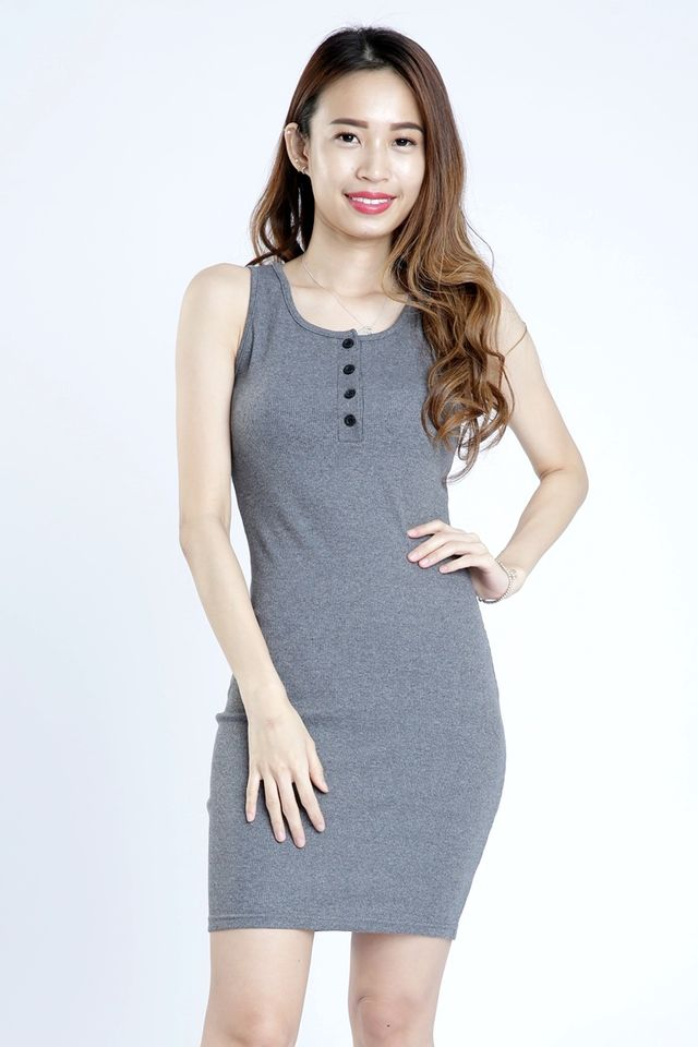 SG IN STOCK - OWEN BODYCON DRESS IN GREY