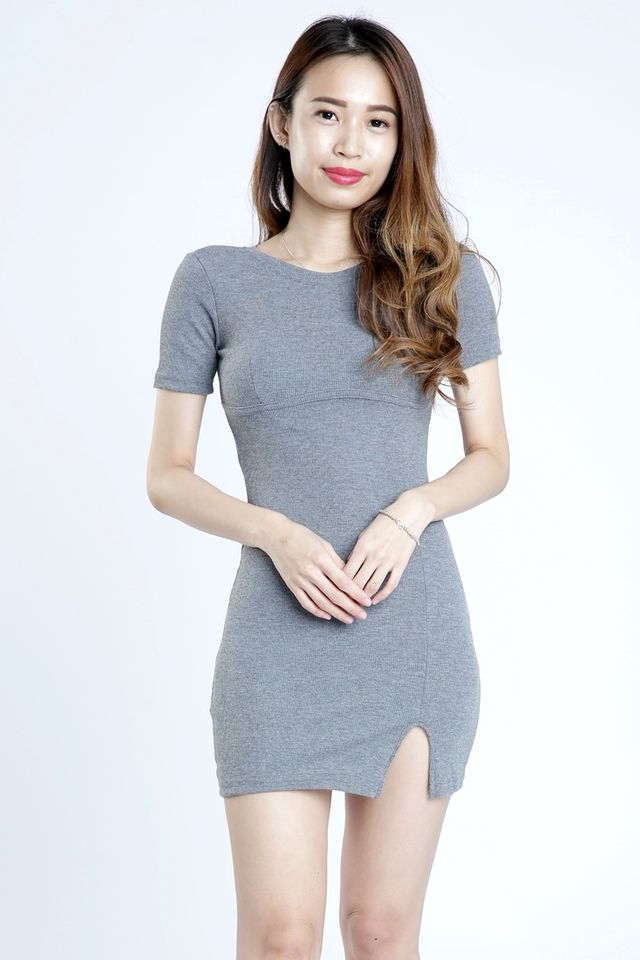 SG IN STOCK - LUKE BODYCON DRESS IN GREY