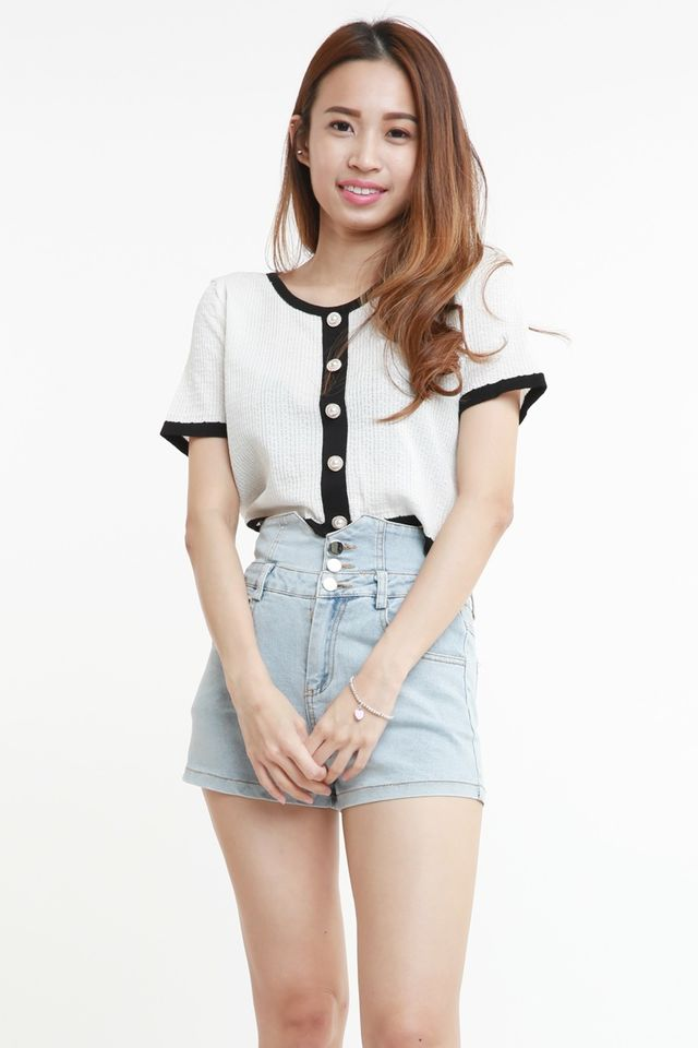 SG IN STOCK -  JENNIE TOP IN WHITE