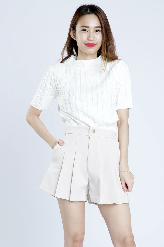 PREORDER - EASTON KNIT TOP IN WHITE