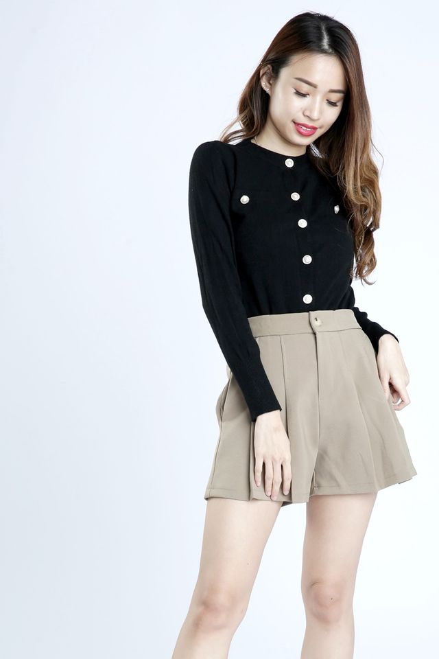 SG IN STOCK - JOAN KNIT TOP IN BLACK