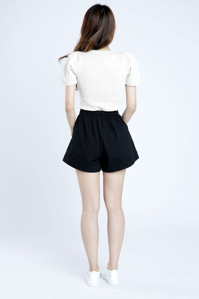 SG IN STOCK - LUCAS PUFF SLEEVE TOP IN BEIGH