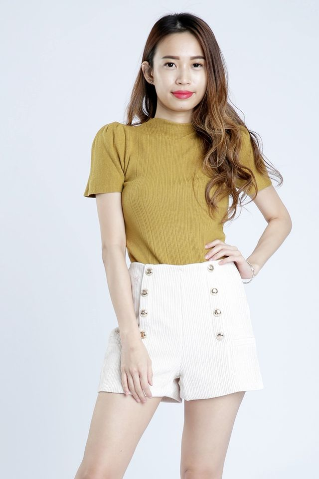 SG IN STOCK - CHLOE KNIT TOP IN MUSTARD YELLOW