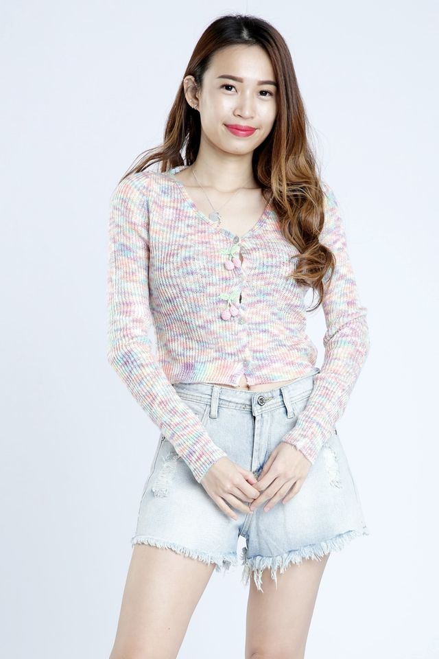SG IN STOCK - MARGET RAINBOW CARDIGAN