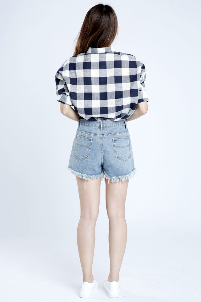 PREORDER - JACK CHECKERED BLOUSE IN BLUE