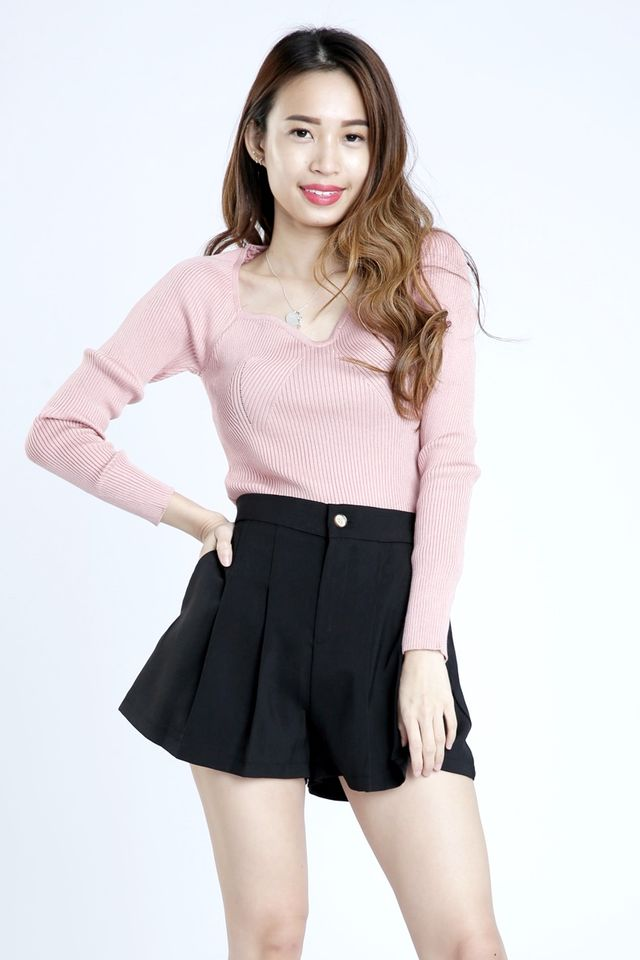 SG IN STOCK - JAYDEN LONG SLEEVE KNIT TOP IN PINK