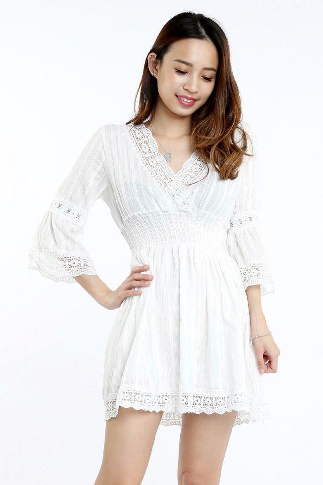 SG IN STOCK - RIANA DRESS IN WHITE