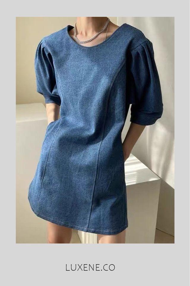 PREORDER - L013 DRESS IN DENIM BLUE