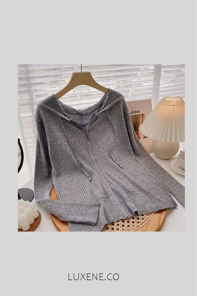 PREORDER - L0154 HOODIE KNIT OUTERWEAR