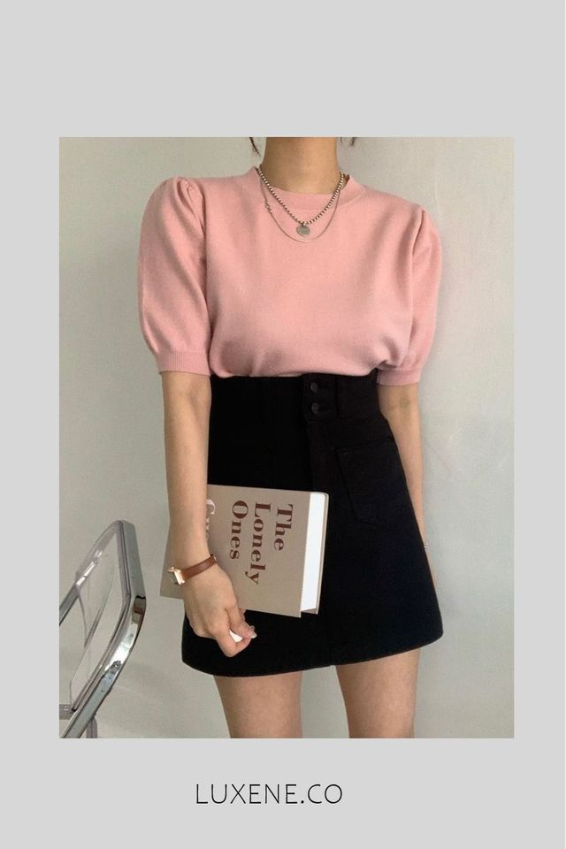 MSIA READY STOCK - L083 TOP (PINK / BLUE)