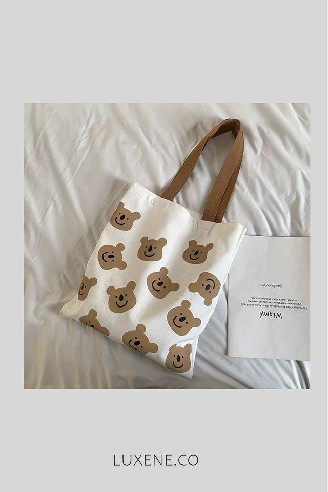 PREORDER - L0257 BEAR BEAR TOTE BAG