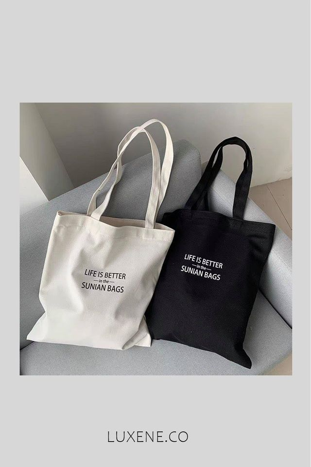 PREORDER - L0258 LIFE IS BETTER TOTE BAG