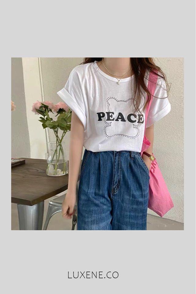 MSIA READY STOCK - L0253 PEACE T SHIRT (WHITE)