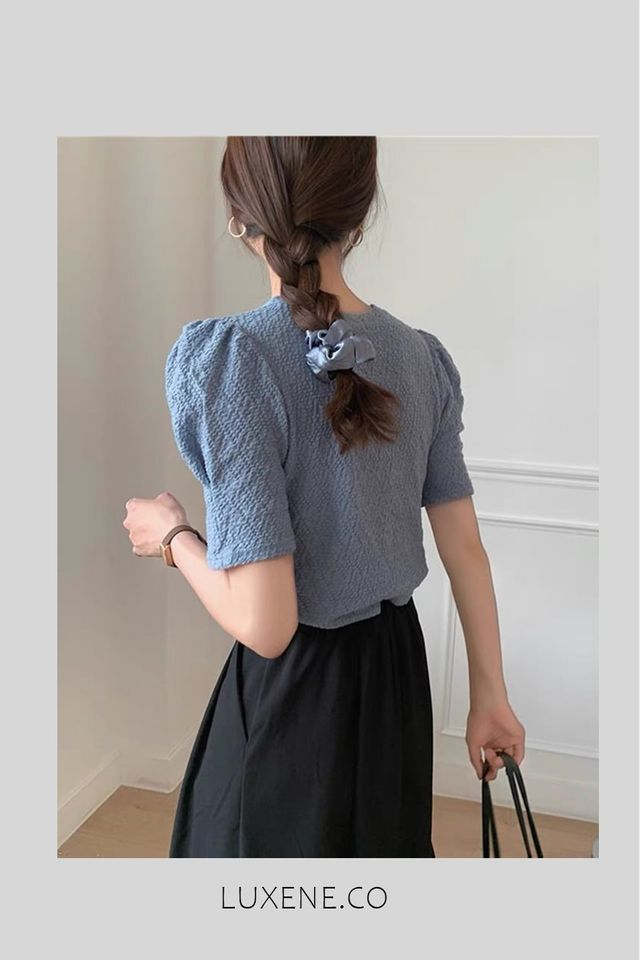 SG IN STOCK - L0290 PUFF SLEEVE TOP (SG)