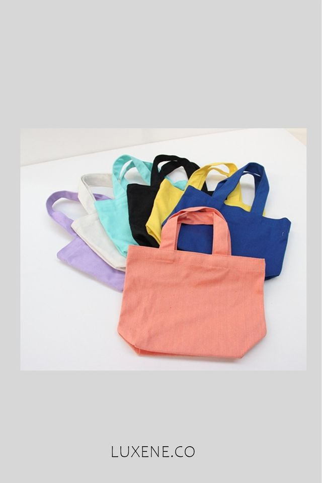 MSIA READY STOCK  - L0326 SMALL HAND BAG SOLID COLOUR (BLACK)