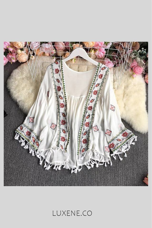 PREORDER - L0494 BOHEMIAN EMBROIDERY OUTERWEAR